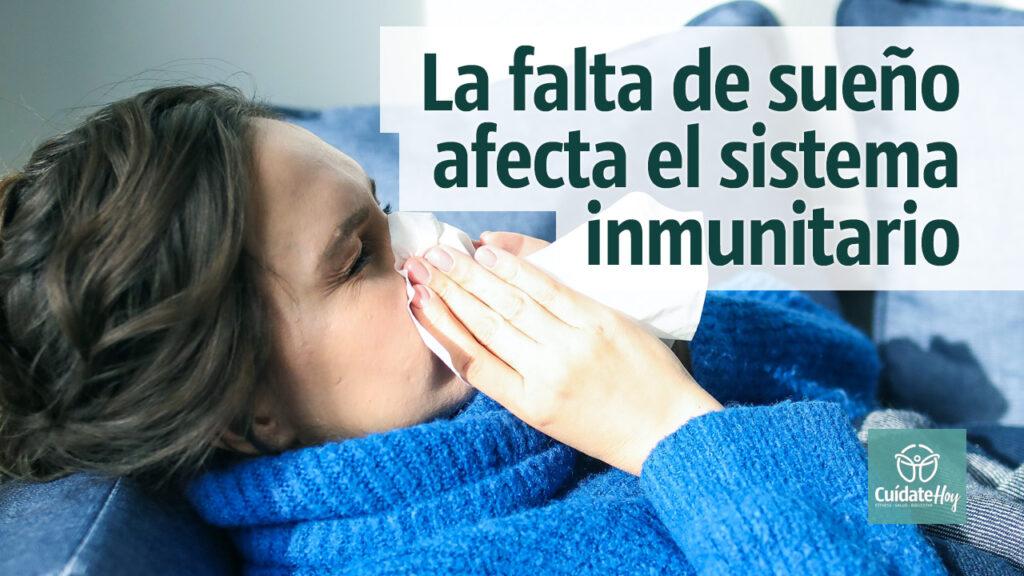 La falta de sueño afecta el sistema inmunitario